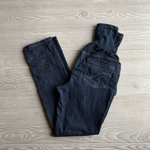 Indigo Blue Dark Wash Skinny Maternity Jeans